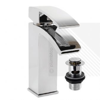 Arian 'Poppy' Bathroom Basin Tap Mixer & Waste in Chrome